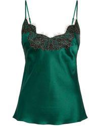 Gilda & Pearl Lace-trim Camisole - Green