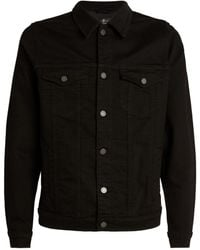 7 For All Mankind Luxe Performance Perfect Denim Jacket - Black