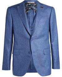 Pal Zileri Silk Jacket - Blue