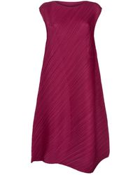Pleats Please Issey Miyake - Asymmetric Dress - Lyst