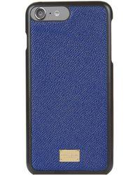 Dolce & Gabbana | Grain Leather Iphone 7 Plus Case | Lyst