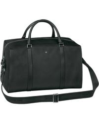 Montblanc - Small Grained Leather Duffle Bag - Lyst