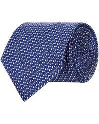 Emporio Armani - Jacquard Triangle Silk Tie - Lyst