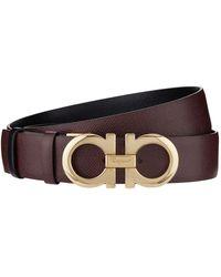 Ferragamo - Leather Gancini Belt - Lyst