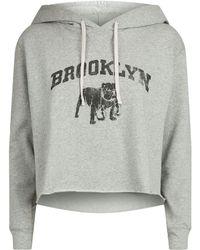 Denim & Supply Ralph Lauren - Cropped Hooded Sweatshirt - Lyst