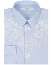 Givenchy - Tattoo Print Formal Shirt - Lyst
