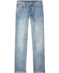 Brunello Cucinelli Washed Regular Fit Jeans - Blue