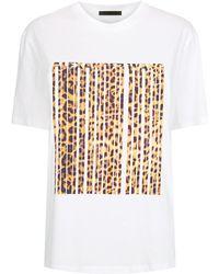 Alexander Wang Leopard Barcode T-shirt - White