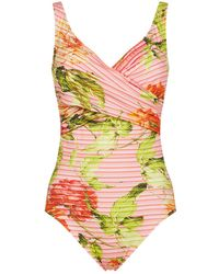 Maryan Mehlhorn - Floral Crossover Swimsuit - Lyst