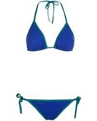 Fendi - Contrast Trim Triangle Bikini - Lyst