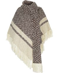 See By Chloé - Blanket Poncho With Scarf - Lyst