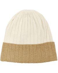 Harrods Two-colour Cashmere Hat - Natural