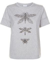 ESCADA | Embellished T-shirt, Grey, L | Lyst