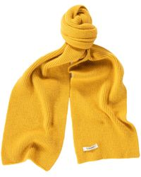 Le Bonnet Classic Lambswool Scarf - Yellow