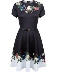 186a4166572 Ted Baker Aimmiid Embroidered Tunic Dress (ivory) Women's Dress in ...