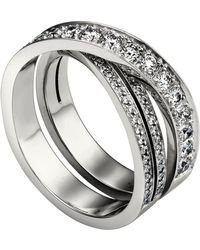 Cartier - White Gold And Diamond Tincelle De Tri-band Ring - Lyst