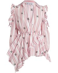 Off-White c/o Virgil Abloh Arrows Embroidered Blouse - Pink