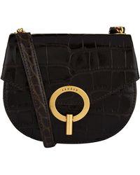 6c01c526ba2a Sandro Absinthe Tassled Shoulder Bag Black in Green - Lyst