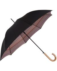 Paul Smith Striped Crook Umbrella - Multicolor