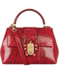 59dbb44fb4 Dolce & Gabbana Agata Calf-hair Box Bag - Lyst