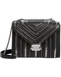 MICHAEL Michael Kors Large Leather Whitney Shoulder Bag - Black