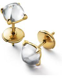 Baccarat Vermeil And Crystal Medicis Stud Earrings - Metallic