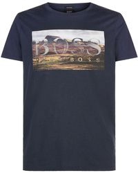 BOSS Orange - Landscape Graphic T-shirt - Lyst