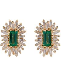 Suzanne Kalan Yellow Gold, Diamond And Emerald One Of A Kind Earring - Green