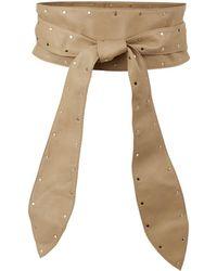 Sandro - Leather Studded Waist Belt - Lyst