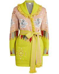 Hayley Menzies Drifters Knit Cardigan - Green