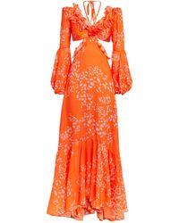 PATBO Cut-out Dress - Orange