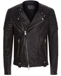 AllSaints - Jasper Leather Biker Jacket - Lyst