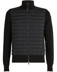 Moncler Quilted-panel Cardigan - Black
