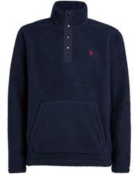 Polo Ralph Lauren High-neck Fleece Sweatshirt - Blue