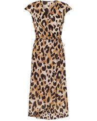 Gottex Leopard Print Beach Wrap Dress - Brown
