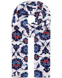 Eskandar - Floral Silk Scarf - Lyst