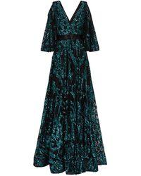 Jovani Sequin Cold-shoulder Gown - Green