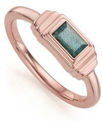 Monica Vinader - Baja Deco Labradorite Ring - Lyst