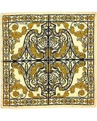Halcyon Days Kensington Palace Gates Silk Scarf - Yellow