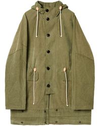 Loewe Military Tent Hooded Parka - Green