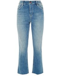 Current/Elliott - Cropped Straight Leg Jeans - Lyst