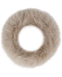 Max Mara Fox Fur Cuffs - Natural