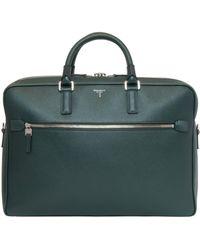 Serapian Evolution Slim Briefcase - Green