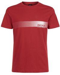 BOSS Green - Logo Swim T-shirt - Lyst