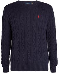 Polo Ralph Lauren Polo Pony Cable-knit Sweater - Blue
