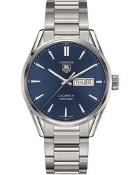 Tag Heuer - Carrera Stainless Steel Blue Gents - Lyst
