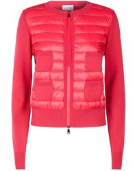 Moncler - Quilted Front Zip-up Jumper - Lyst