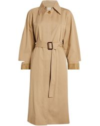 Sandro Cut-out Trench Coat - Natural