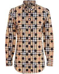 Burberry - Polka Dot Pyjama Top - Lyst
