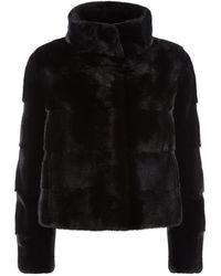 Harrods - Mink Fur Crop Jacket - Lyst